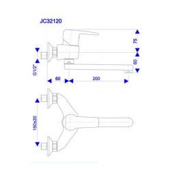 Slavina za sudoper JC32101