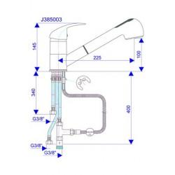 Slavina za sudoper J385001