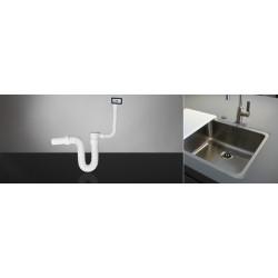 Sifon za sudoperu jednodelni elastični sa prelivom