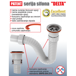 Sifon za umivaonik elastični isaflex
