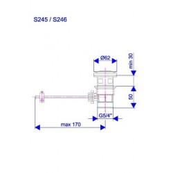 Gornji deo sifona automatski s246