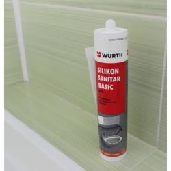 Silikon sanitarni basic Würth - beli