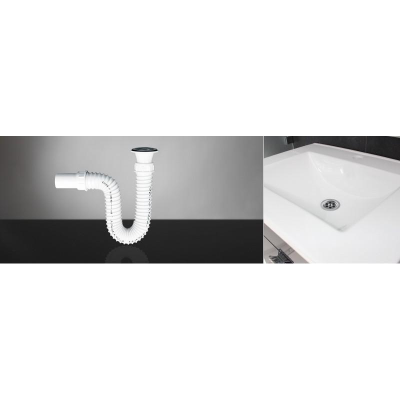 Sifon za lavabo elastični sa inox vijkom