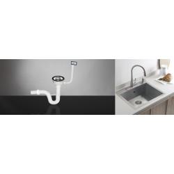 Sifon za sudoperu jednodelni sa prelivom fi 90