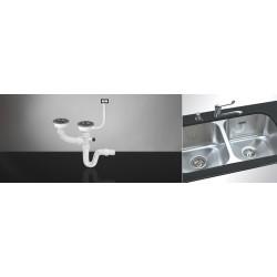 Sifon za sudoperu dvodelni sa prelivom fi 90