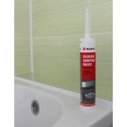 Silikon sanitarni basic Würth - transparentni